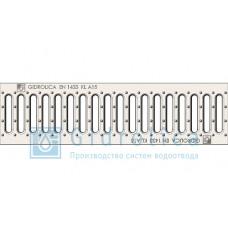 Решетка водоприемная Gidrolica Standart РВ -10.13,6.50 - штампованная стальная оцинкованная, кл. А15