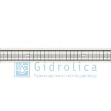 Решетка водоприемная Gidrolica Standart РВ -10.13,6.100 - ячеистая стальная оцинкованная, кл. В125
