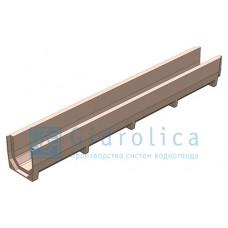 Лоток водоотводный Gidrolica PolySand ЛВ-10.14.13 - полимерпесчанный