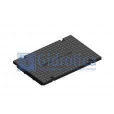 Глухая крышка для лотка водоотводного Gidrolica Standart КЛ-30.35,8.50 - пластиковая, кл. С250